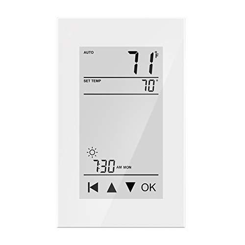 HEATIT ET-72 Touchscreen Programmable Thermostat with floor sensor Class A GFCI