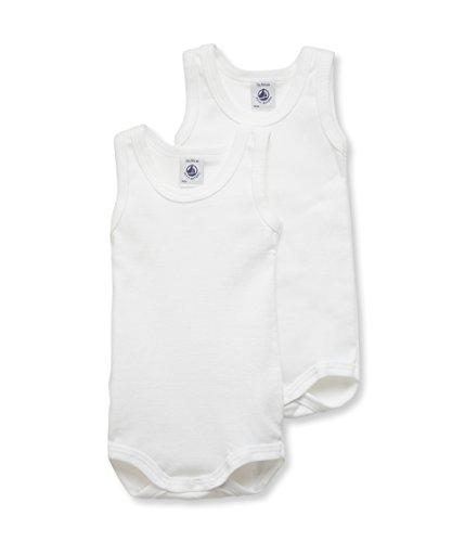 Petit Bateau Petit Bateau Unisex Baby Body (2er Pack), Weiß (Special Lot 00 00), 18 monaten (Herstellergröße : 18)