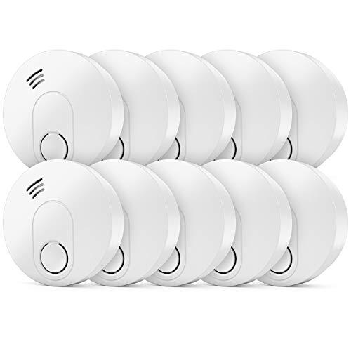 deleyCON 10x Rauchmelder VDs Zertifiziert + DIN EN 14604 10 Jahres Batterie Optischer Sensor Rauchwarnmelder Feuermelder Brandmelder Wohnung Haus