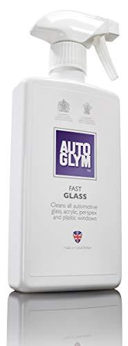 Autoglym Fast Glass 500ml - Spray Nettoyant pour Vitres de Voiture, Rétroviseurs, Phares et Composants en Plastique, Intérieur et Extérieur