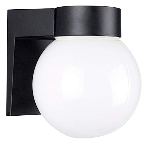 Sunset Lighting F4617-31 Outdoor Wall Sconce with Opal Glass, Black Finish