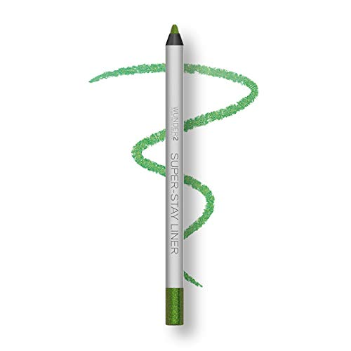 Wunder2 Super-Stay Eyeliner Kajal Lang Anhaltend Wasserfest,  Glitter Apple Green
