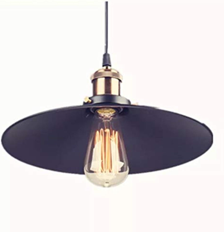 Beleuchtung Innenbeleuchtung Schlafzimmer Wohnzimmer Cafe Bar Schmiedeeisen Retro-Kronleuchter, 22 × 22 × 20 cm, schwarz