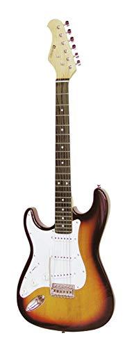 Guitarra eléctrica PATRON para zurdos con accesorios, sunburst - Guitarra para principiantes...