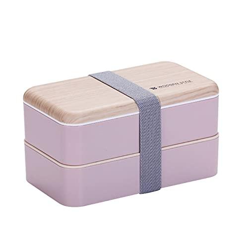 ESTone - Caja de plástico para horno de microondas o nevera, color rosa
