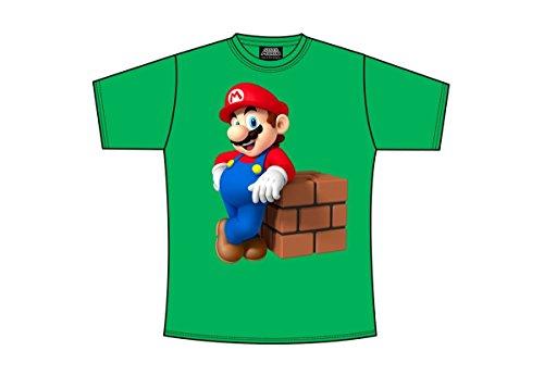 Nintendo L- Mario Block T-shirt Vert