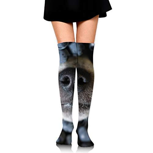 Hundenase, die schwarze Traubentiere hervorsticht Wildlife Hundefutter und -getränke Männer und Frauen Kompressionskniestrümpfe Hohe Fitness Neuheit Strümpfe 60cm Stilvolles Design
