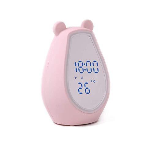 Espejo de cortesía Luces de Espejo, lámpara LED Recargable por inducción Ajustable Maquillaje de Dibujos Animados Espejo Altavoz Soundbox Color: Espejo de Maquillaje agrandar (Color : Pink)
