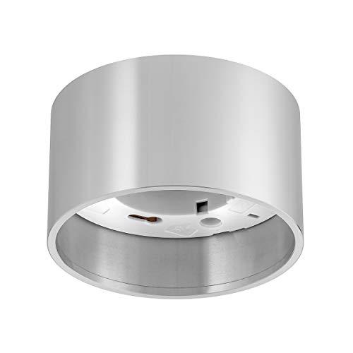Ledox Aufbaurahmen GX53 230V Deckenleuchte für LED & Halogen Leuchtmittel bis 50W I Aluminium Aufbaulampe rund (silber)