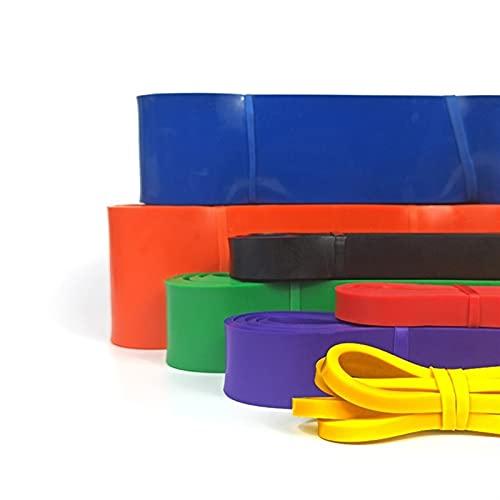 YUQINT Banda de resistencia para gimnasio de 208 cm, bandas de resistencia para yoga, ejercicios de goma, bucle elástico para dominar, para fitness, expansión, ejercicios de fuerza (color: morado)