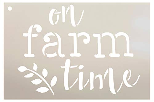 """On Farm Time with Grain Stalk Stencil by StudioR12 