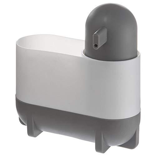 Secret de Gourmet - Distributeur à savon + porte éponge blanc et gris