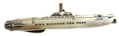 U-Boot Krawattenklammer Wilhelm Bauer antikfarben Bicolor Patinastil Made in Germany Plus brauner Geschenkbox NM0324abic
