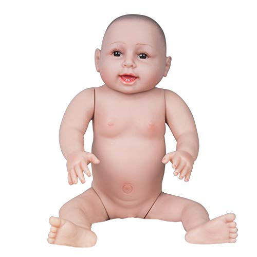 Fenteer 66cm Lebensgroße Vinyl Nackten Weichkörper Babypuppe Junge Funktionspuppe ohne Kleidung