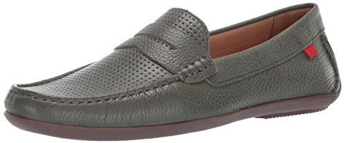 Marc Joseph New York Mens Genuine Leather Union Street Driver Driving Style Loafer olive grainy perforated 9 D(M) US