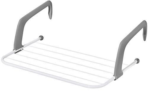 KaMel GmbH Heizungstrockner für Wäsche / Handtücher | klappbar | verstellbar | variable Aufhängung | 3 m Trockenlänge | Wäschetrockner Heizung – Balkon – Badewanne (grau)