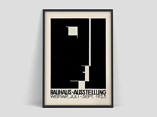 Póster de la exposición de arte de la Bauhaus, impresión de la exposición de la Bauhaus, póster de Herbert Bayer, impresión de la Bauhaus, pintura en lienzo sin marco N 30x40cm