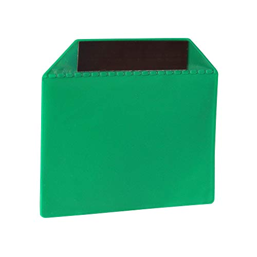 Magnet-Tasche mit starkem Magnetband - Ideal zur Dokumentenaufbewahrung - Grün - 155 x 110 mm - DIN A6 - von Magna-C