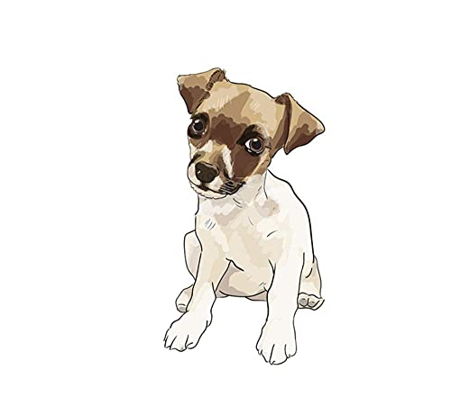 MDGCYDR Pegatinas Coche Perro 15Cm Lindo Schnauzer Jack Russell Terrier Perro Dibujos Animados Coche Pegatina Decoración para RV Auto Motocross Racing Laptop Maletero Pared