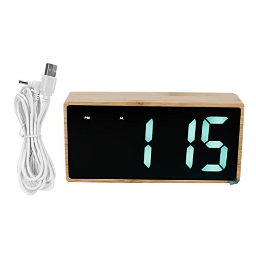 Denkerm Reloj LED, Reloj silencioso para Amigos para Familia para Dormitorio para el hogar