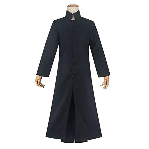 WFWPY Disfraz de anime The Matrix Neo Cosplay Disfraz de Halloween Carnaval Props para adultos, incluye conjunto completo de ropa + gafas de sol