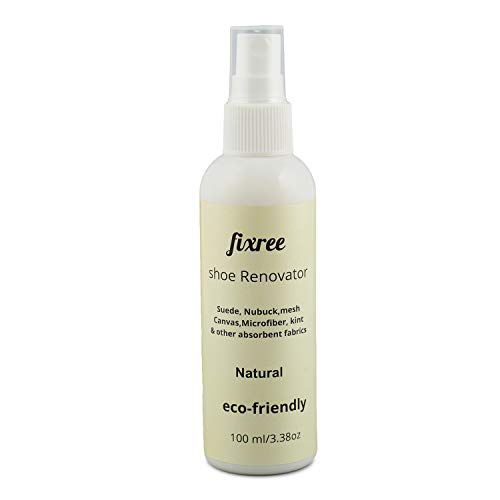fixree shoe renovator (100ML) best for- suede nubuck, canvas,kint,& most other absorbent fabrics (Natural)