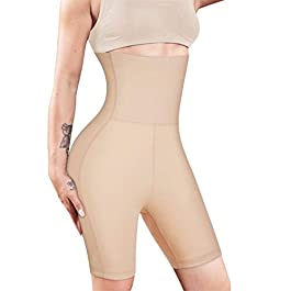 Chumian Women Body Shaper Butt Lifter Shapewear Slip Shorts High Waist Tummy Control Panties Thigh Slimmer Cincher