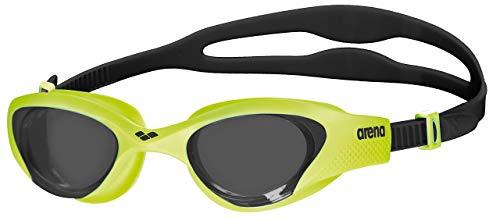 arena Unisex Training Freizeit Schwimmbrille The One (UV-Schutz, Anti-Fog Beschichtung, Harte Gläser), Smoke-Lime-Black (565), One Size