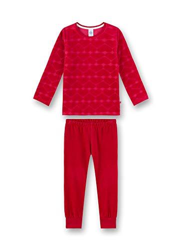 Sanetta Mädchen Pyjama Zweiteiliger Schlafanzug, Rot (Raspberry 3481), (Herstellergröße: 140)
