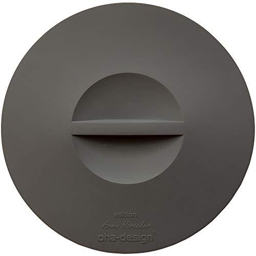 Tapa de silicona para conservar alimentos – antracita [juego de 2] para cubrir pequeños cuencos y tazas
