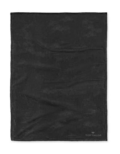 TOM TAILOR 0237798 Wohndecke Microfaser  1x 180x220 cm, schwarz
