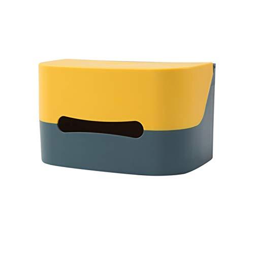 Dispensador de Toallas de Papel,montado en la Pared Soporte para teléfono móvil Dispensador de Papel higiénico sin núcleo Bolsas de Basura Dispensador de Interruptor magnético ome Dispensador de
