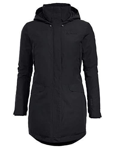 VAUDE Skomer Wool Parka Veste Femme Noir FR : M (Taille Fabricant : 40)