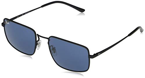 Ray-Ban 0RB3669 Gafas, RUBBER BLACK, 55 Unisex