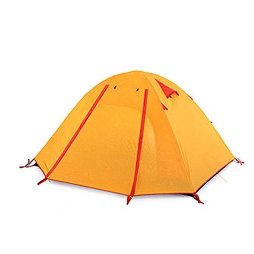 DEI QI Tente extérieure légère en alliage d'aluminium portative légère 3-4 personnes de tente de tente de plage de protection solaire imperméable épaisse, appropriée à la tente s'élevante de camping d