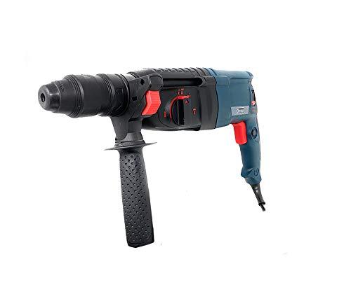 Vetrineinrete® Trapano tassellatore elettrico 800 watt mandrino autoserrante 26 mm doppio senso di rotazione 7 punte demolitore cemento acciaio e legno X55