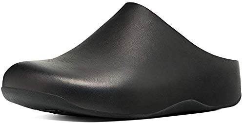 Fitflop Damen Shuv - Leather Clogs, Schwarz (Black 001), 37 EU