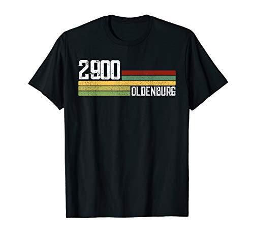 2900 Oldenburg Retro T-Shirt Alte PLZ Vintage Schild