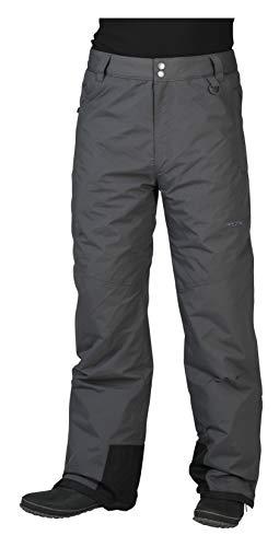 Arctix Men's Mountain Insulated Ski Pants, Charcoal, Medium (32-34W 32L)