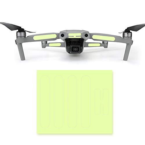 Hensych 2St Drohne Universal Leuchtender Aufkleber Leicht Fluoreszierend Haut Dekoration Abziehbilder Nachtflug für Mavic Air 2 / Autel EVO 2 / Mavic Pro / Mavic Air Drohnenzubehör