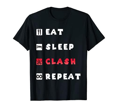 Eat Sleep Clash Repeat - Maglietta da gioco Best Mobile Maglietta