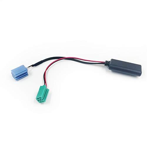 WULE Radio de automóvil Blue Blue Mini ISO 6PIN 8PIN Conector Bluetooth 5.0 AUX Cable Adaptador Ajuste para Renault Radio UpdateList (Color Name : 6pin 8pin)