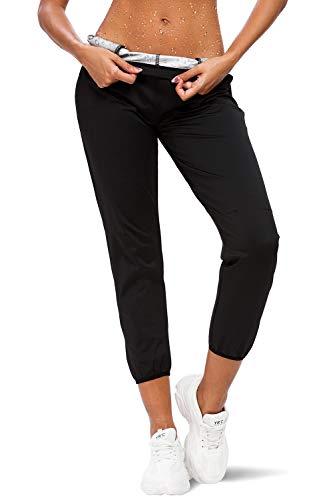 Hocaies Sporthose Damen Sport Leggings Damen Schwitzhose zum Abnehmen Neopren Sauna Hose Blickdicht Yoga Fitness Hot Thermo Sweat Tights Wear Body Shaper Damen Sauna Pants.(Elastische Taille)