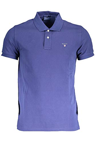 GANT Mens The ORIGINAL Slim Pique Rugger Marine Polohemden L