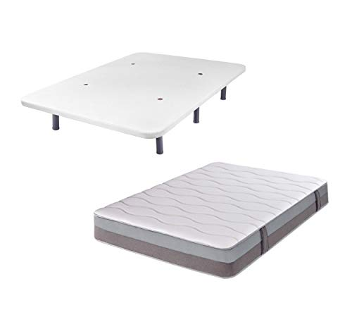 Conjunto Base tapizada 90x190 y Colchón - DHome