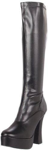 Pleaser ELECTRA-2000Z, Damen Langschaft Stiefel, Schwarz (Schwarz (Blk St Faux Leather)), 37 EU /4 UK
