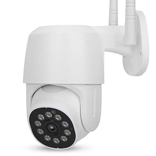 FOLOSAFENAR 1080P WiFi PTZ Cámara PTZ IR-Cut Seguridad CCTV Seguimiento Inteligente, para vigilancia del hogar con Funciones(European regulations)