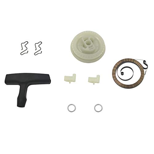 Cancanle Recoil Starter Pulley Hand Grip Pawl Spring Washer Set Past op Stihl 017 018 MS170 MS180 kettingzaag Whole Set