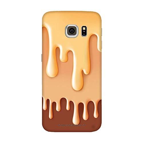 Cover Samsung Galaxy S6 Edge   G9250 Cibo Food Gelato al Cioccolato/Custodia Stampa Anche sui Lati/Case Anticaduta Antiscivolo AntiGraffio Antiurto Protettiva Rigida
