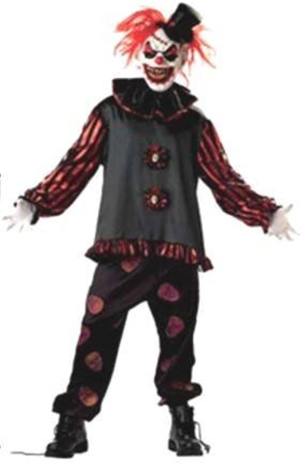 Mens Costume  Carver the Killer Clown (Large)